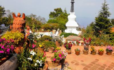 Garden in Fort Resort at Nagarkot
