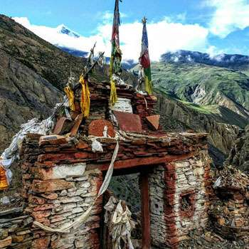 An entrance gate in local mountain village  Nepal