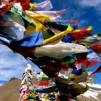 Prayer Flag in Tibet
