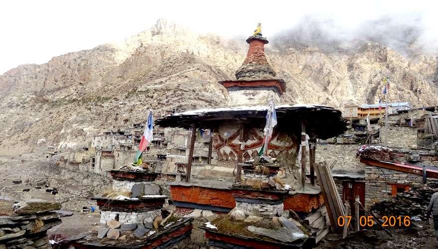 A Buddhist mani in Nar Village