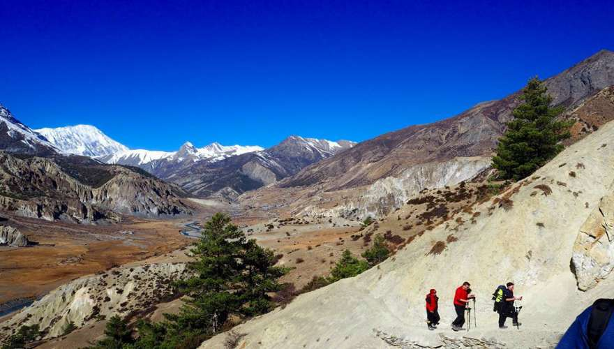 Beautiful Manang Valley in Annapurna