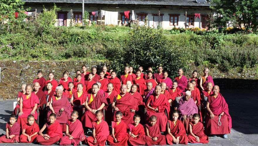 Buddhist nuns from Bigu Gompa in Dolakha