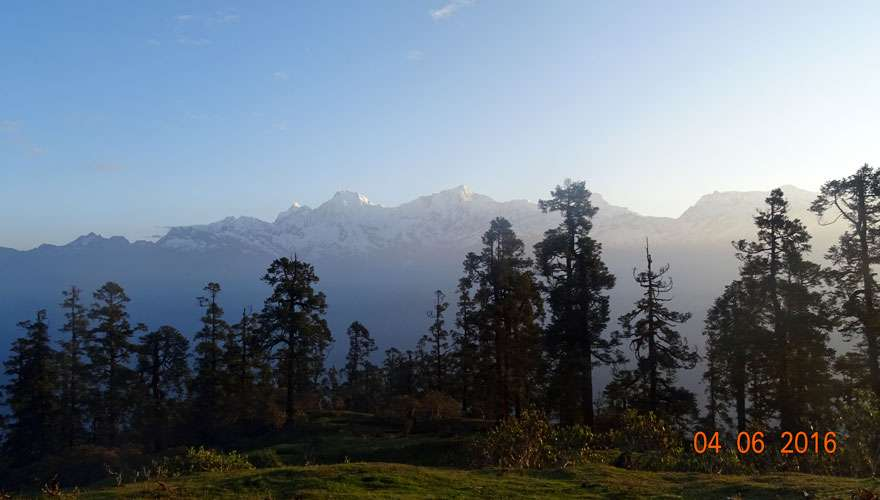 View of Ganesh Himal Range from Machet Kharka