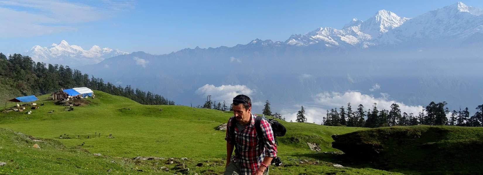 Machet Kharka and Ganesh Himal Range in the background