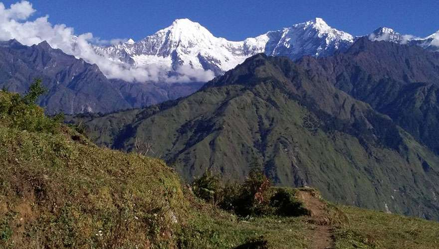 View of Pabil Himal in Ruby Valley