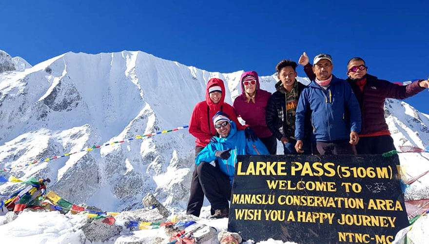 Larke Pass in Manaslu Circuit