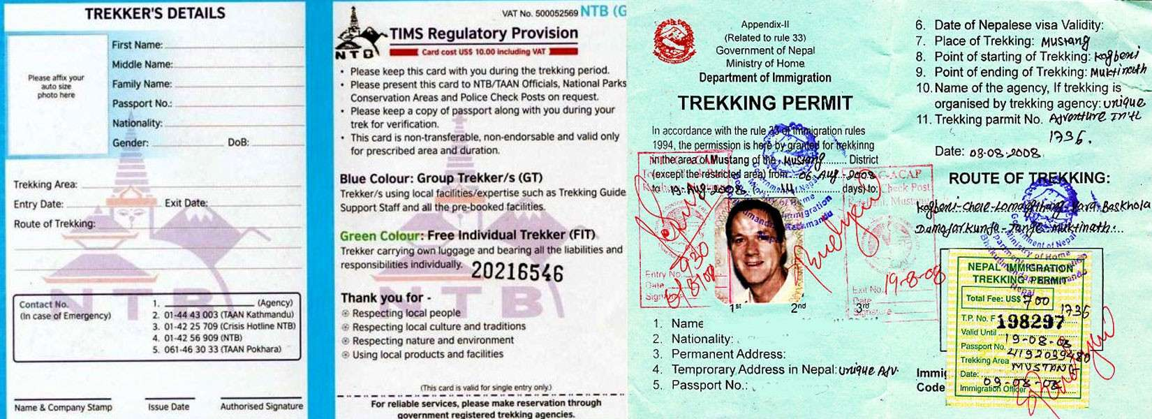 Nepal Trekking Permit and Fees