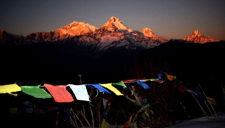 Sunset over Annapurna photo from Poon Hill
