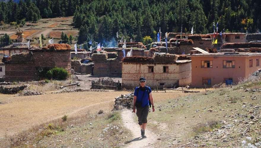 Ringmo Village in Lower Dolpo