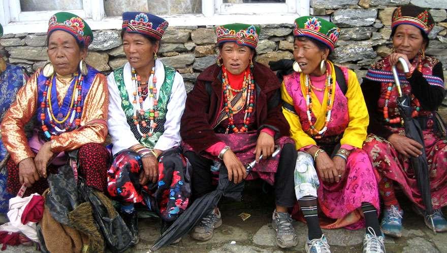 Tamang ladies in traditional dress