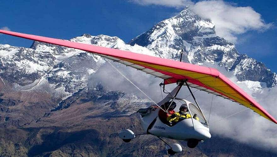 Ultra light flight from Pokhara