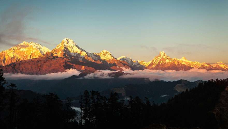 View of Annapurna from Mohare Danda