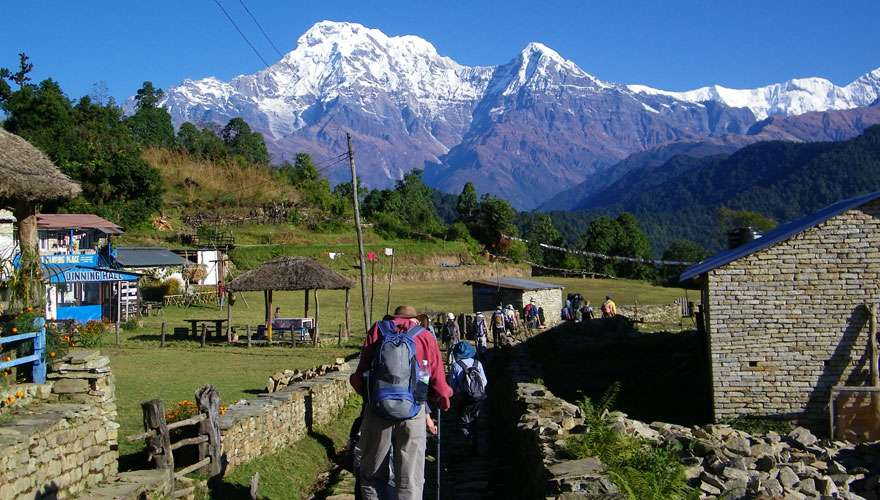View of Annapurna from Australian camp
