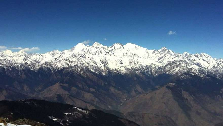 View of Ganesh Himal range from Lauribinayak
