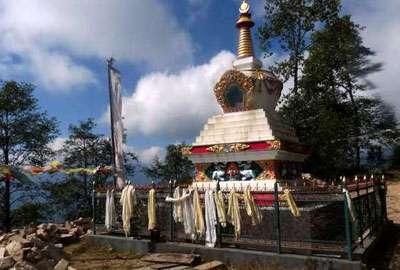 A Buddhist monument in Helmabu