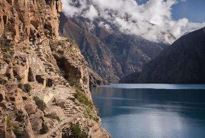 Shey Phoksundo Lake in Dolpo Nepal