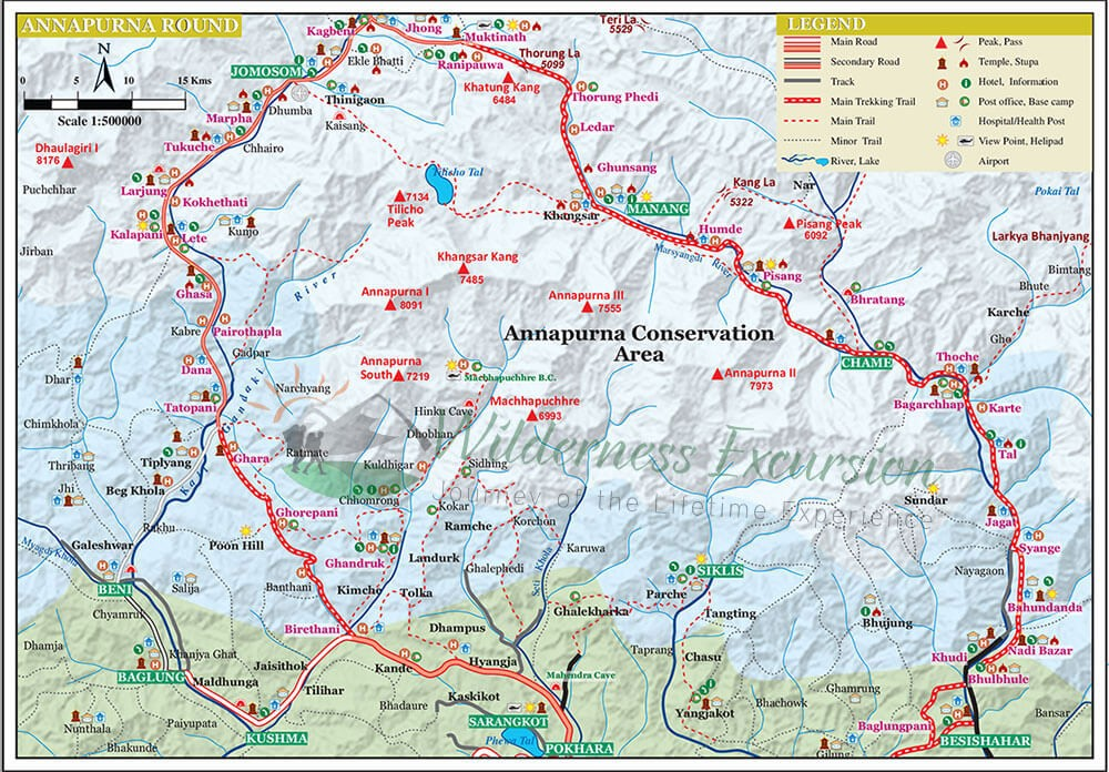 Annapurna Circuit Trek - Map