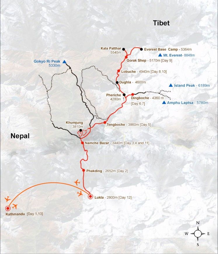 Everest Base Camp Trek - Map