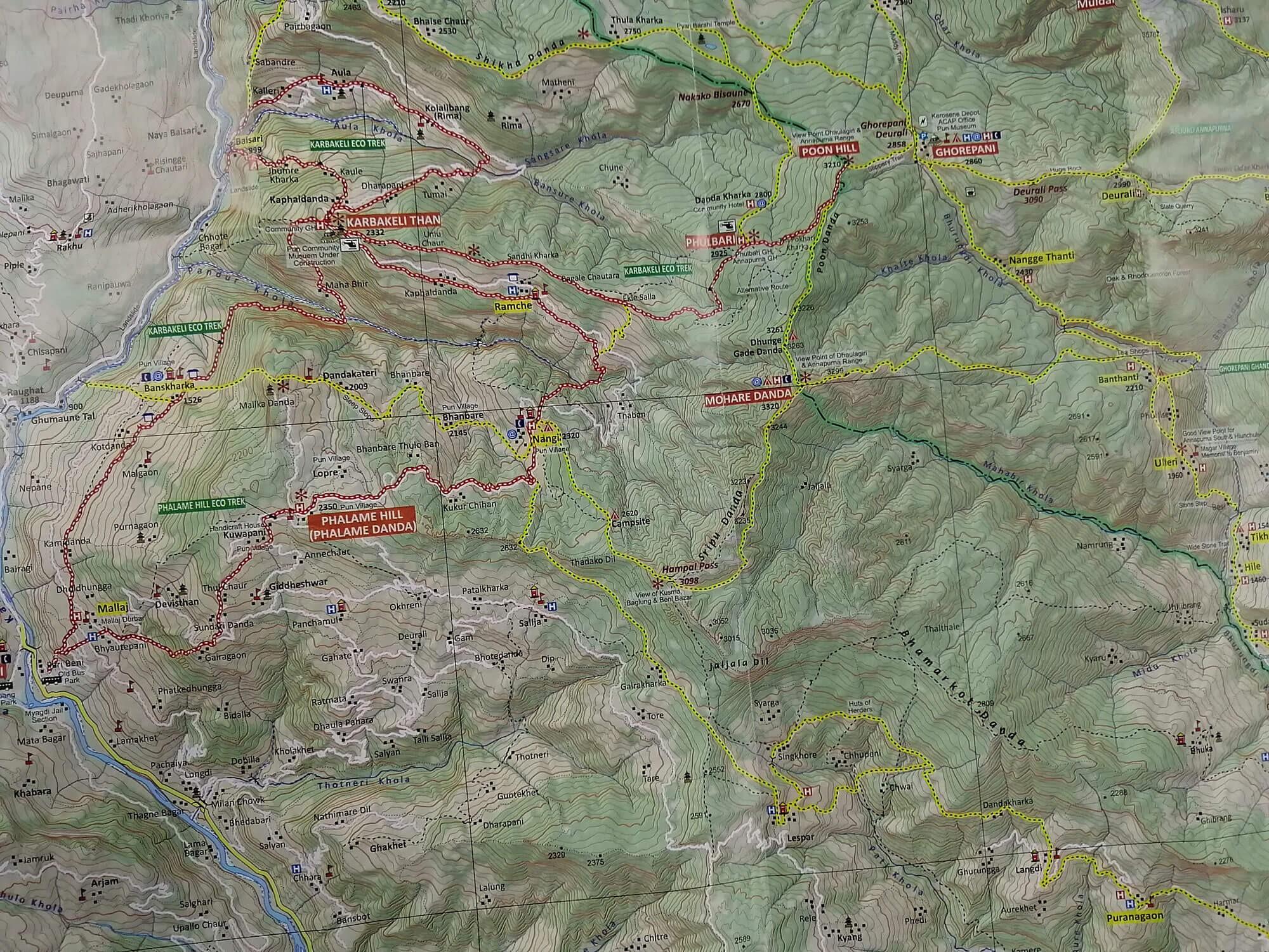 Nagi Village Trek - Map