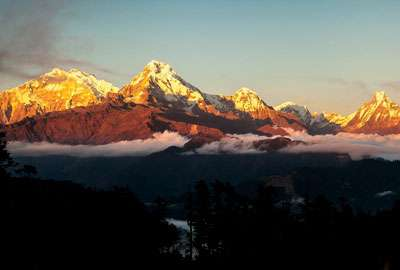 Sunset on Annapurna Range