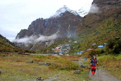 Beding village in rolwaling valley