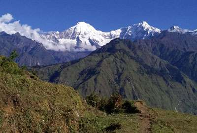 View of Pabil Himal from Ruby Valley