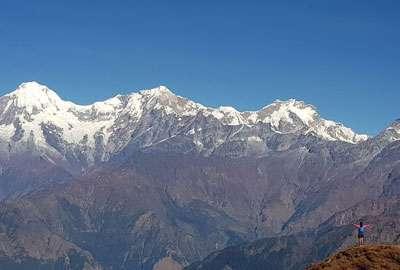 Ganesh Himal seen from Singla Pass