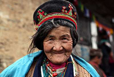 A local old lady from Langtang