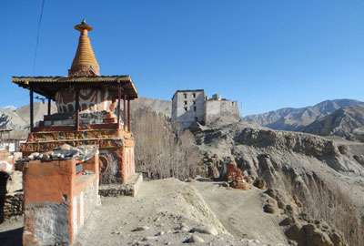 A Buddhist monument in Upper Mustang